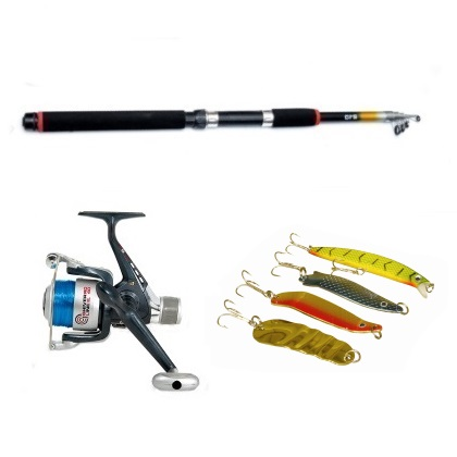 SR 6ft 9in Telescopic Rod and Lineaeffe 30 Reel plus Spinner Set Option