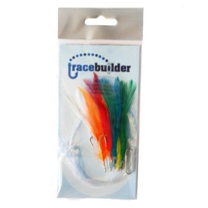 Trace Builder Coloured Mackerel Feathers (3 hook or 6 hook rigs)