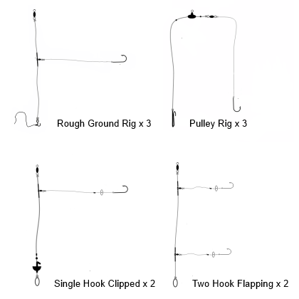 Sea Angling Shop Rig Selection x 10 Rigs